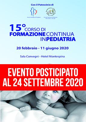 15 Corso di Formazione Continua in Pediatria 2020