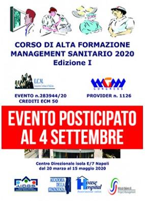 Corso di Alta Formazione in Management Sanitario 2020 I edizione Modul...