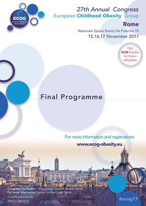27th Annual Congress European Childhood Obesity Group