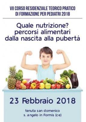 VII Corso Residenziale teorico pratico di formazione per pediatri 2018