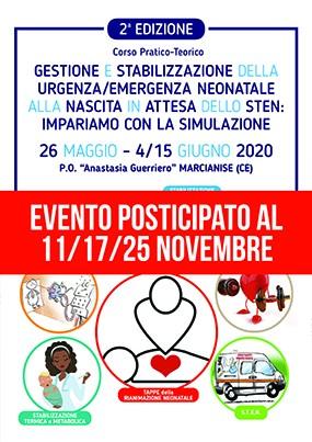 2 edizione Corso Pratico-Teorico. Gestione e stabilizzazione della urgenza/emergenza neonatale alla nascita in attesa dello Sten: impariamo con la simulazione