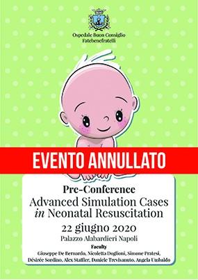 Pre conference Advanced Simulation Cases in Neonatal Resuscitation 2020