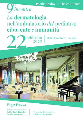 9° incontro La dermatologia nell'ambulatorio del pediatra: cibo, cute e immunità